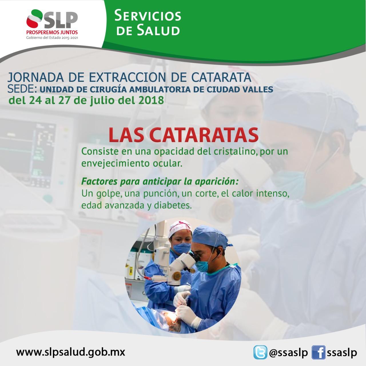 ARRANCA SECRETARÍA DE SALUD JORNADA DE EXTRACCIÓN DE CATARATA