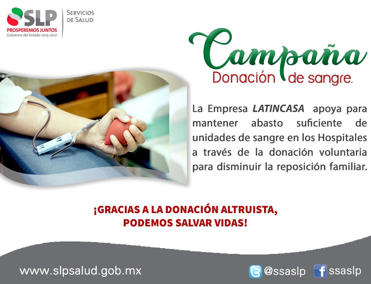 ARRANCAN LA SECRETARÍA DE SALUD SIU PRIMERA CAMPAÑA DE DONACIÓN ALTRUISTA DE SANGRE DEL MES DE SEPTIEMBRE.