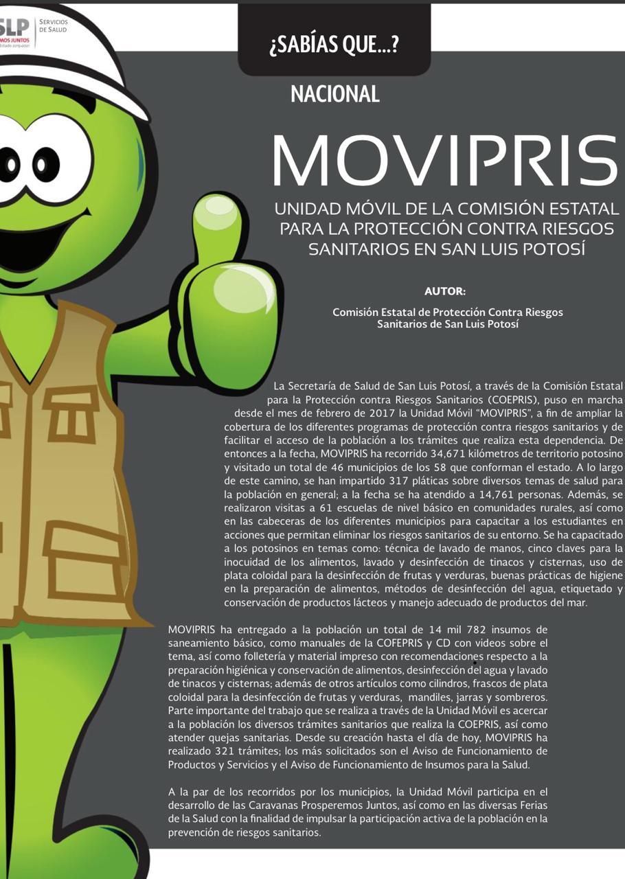 MOVIPRIS LLEGA YA A 35 MIL KILÓMETROS RECORRIDOS EN EL ESTADO.