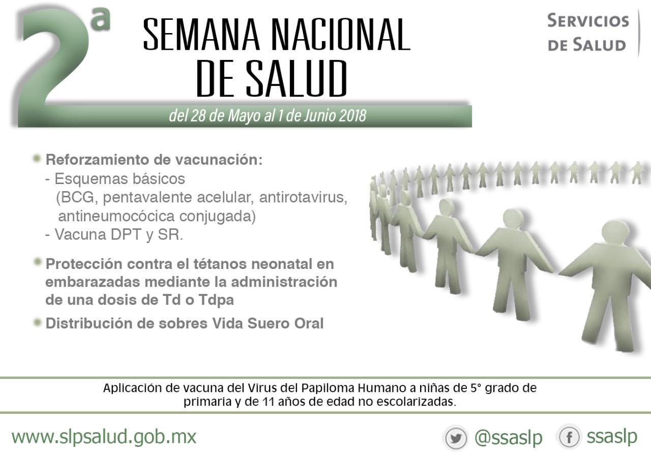 INICIAN LAS ACCIONES DE LA SEGUNDA SEMANA NACIONAL DE SALUD.