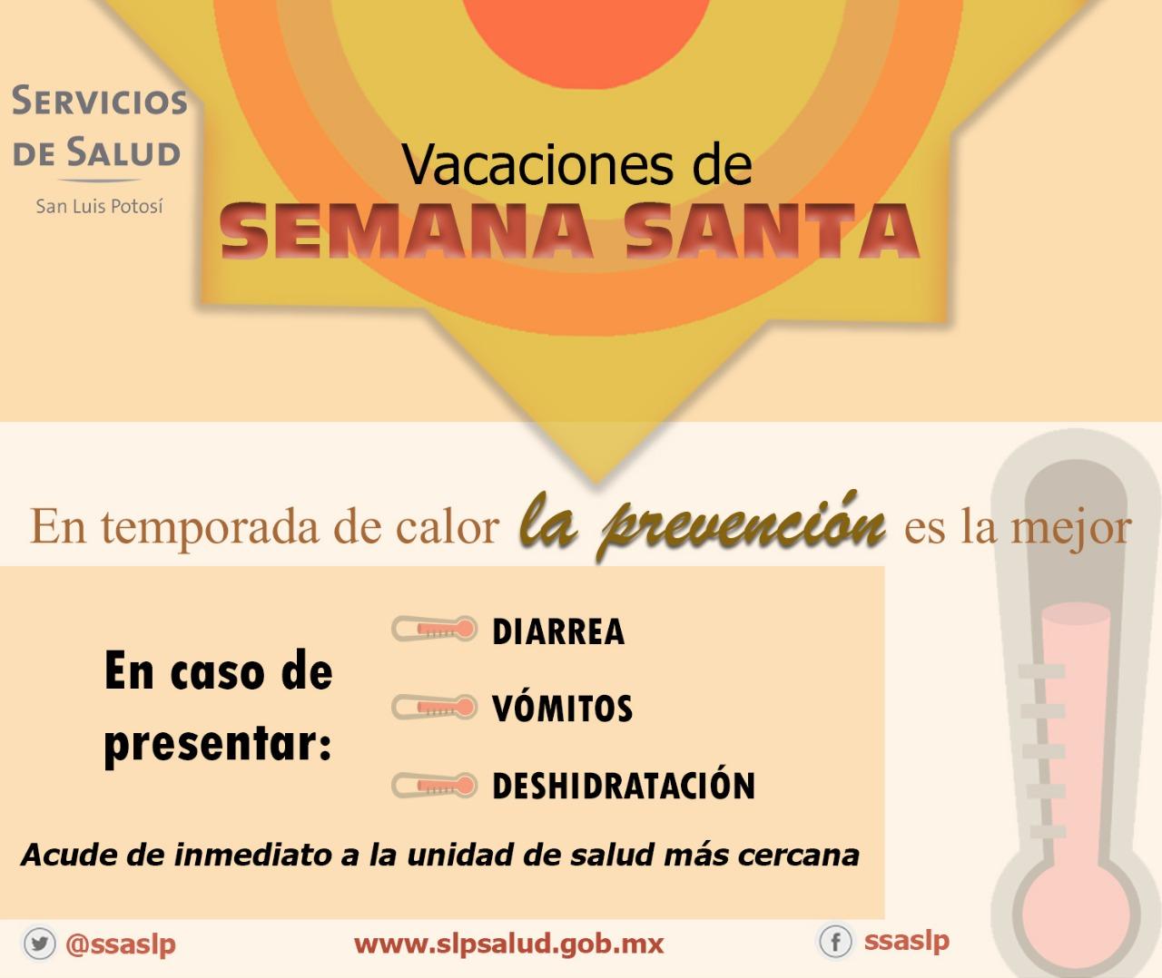 REGISTRA LA SECRETARÍA DE SALUD CUATRO CASOS RELACIONADOS CON LAS ALTAS TEMPERATURAS.