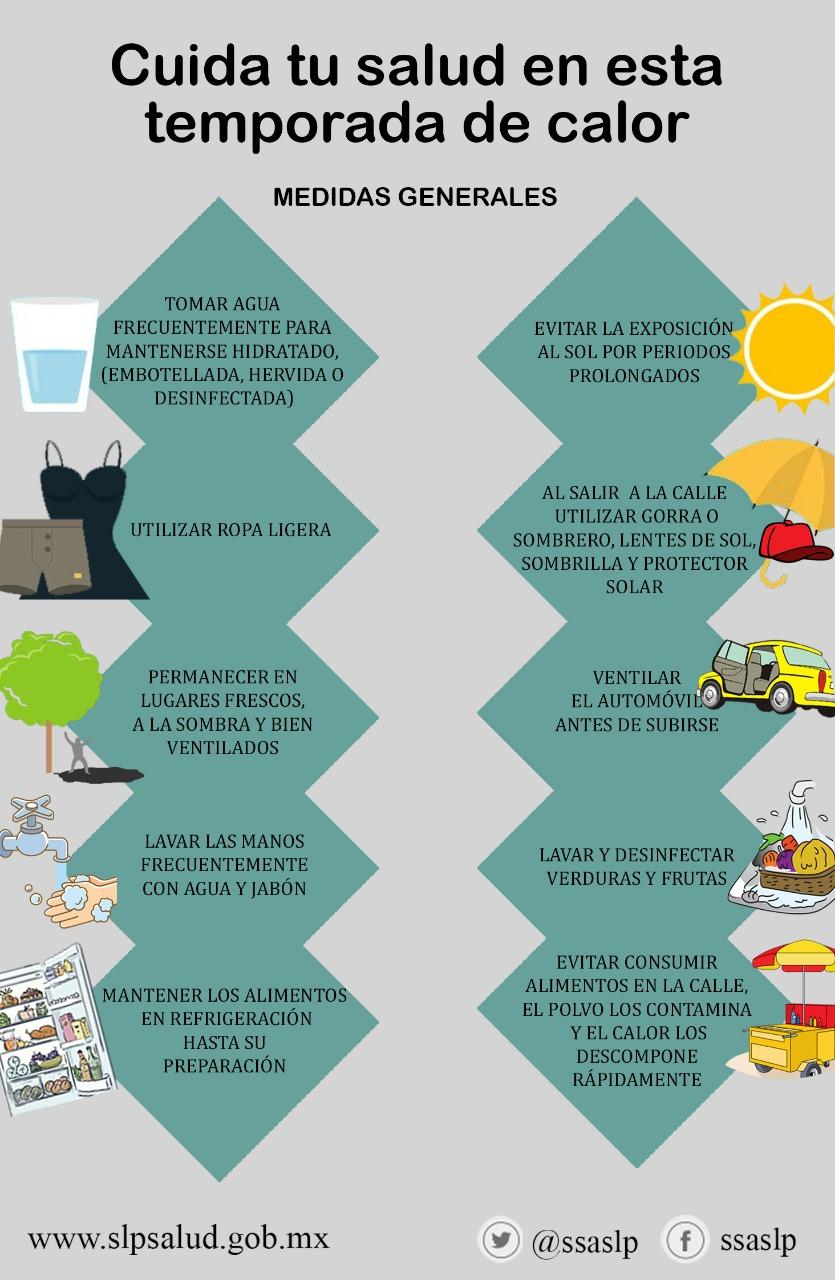 EMITE LA SECRETARÍA DE SALUD RECOMENDACIONES A SEGUIR EN CASO DE INUNDACIONES Y ENFERMEDADES POR REGISTRO DE ALTAS TEMPERATURAS.