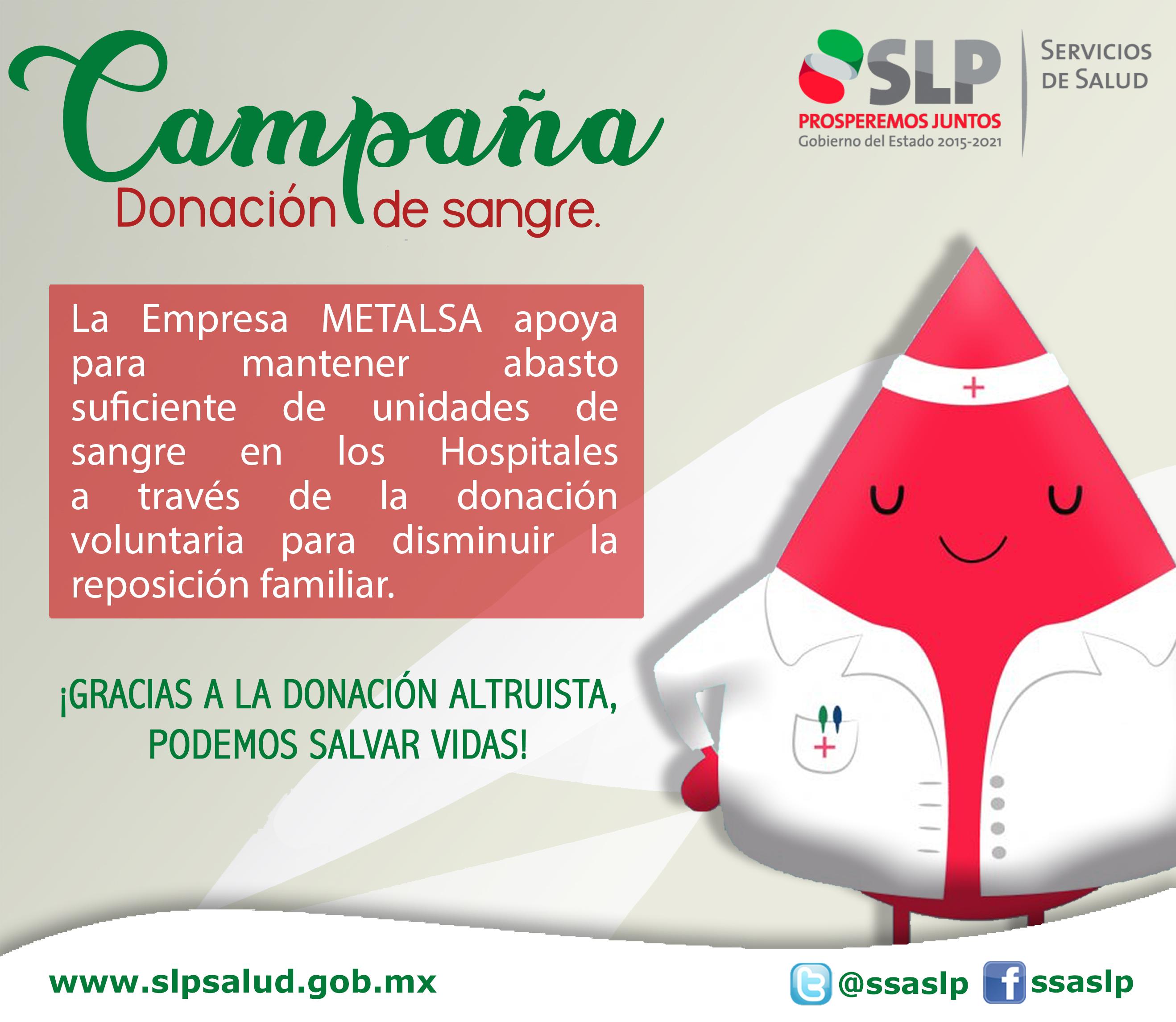 CON ÉXITO SE REALIZA LA CAMPAÑA DE DONACIÓN VOLUNTARIA DE SANGRE EN LA EMPRESA METALSA.